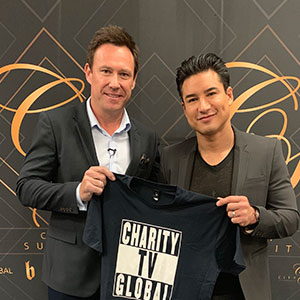 Troy Gray with Mario Lopez