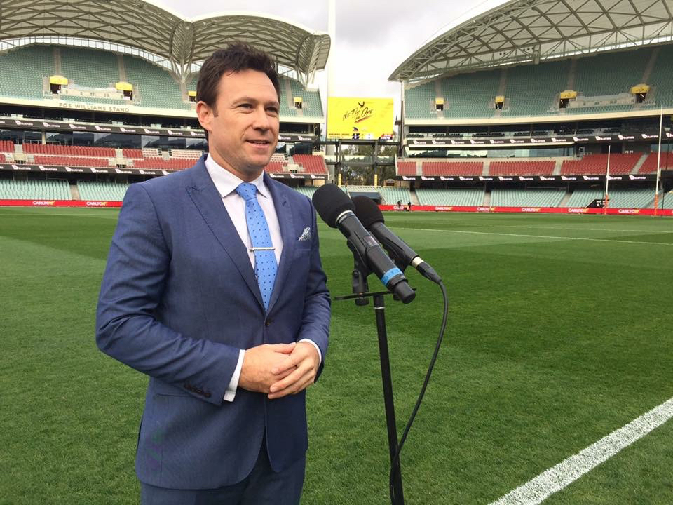 Troy Gray - on ground announcer Adelaide Oval
