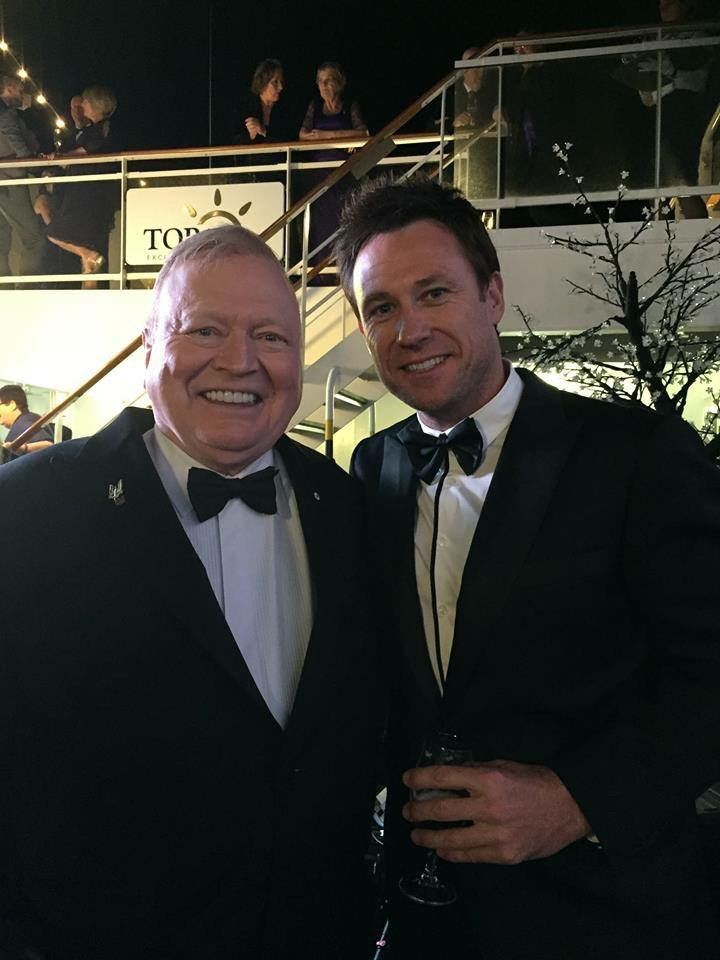 Troy Gray co-hosting with TV royalty Bert Newton